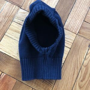 Jacadi Navy Blue Knit Hood Balaclava Hat